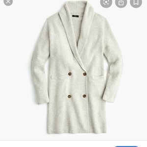 J Crew Double-breasted Cardigan Coat